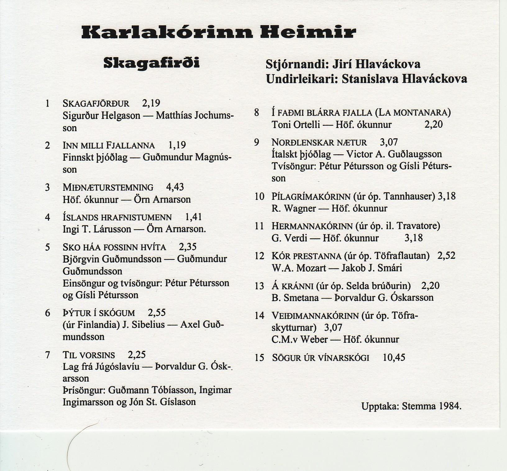 Kom söngur_1983_bakhlið
