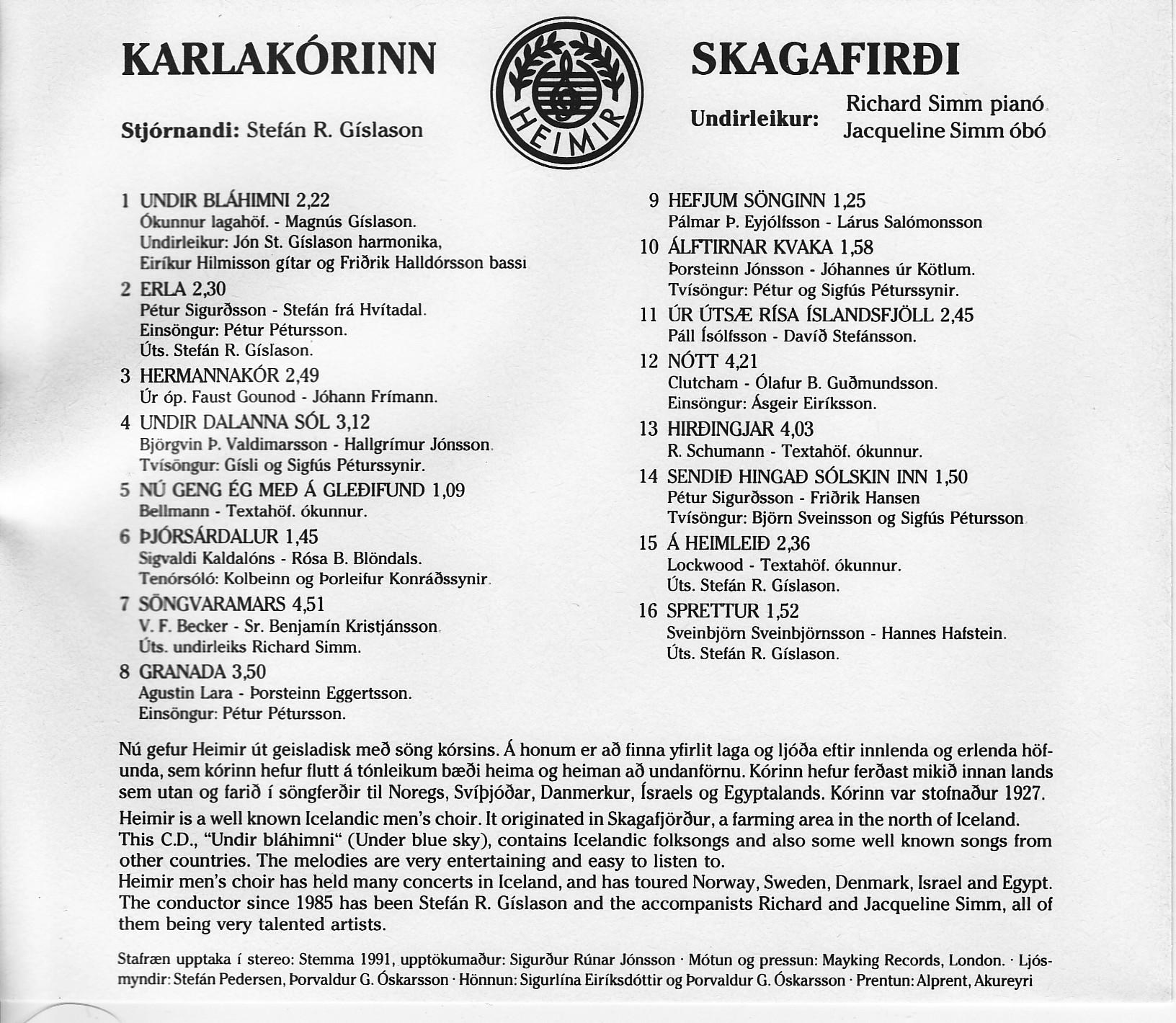 Undir bláhimni_1991_bakhlið