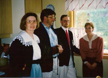Anna, Kristján, Bjössi Björns og Haddý